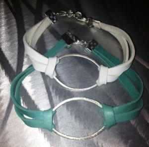 leather bracelets with oval